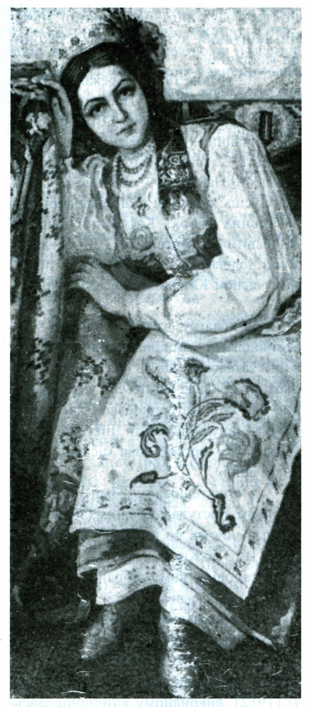 Фото Портрет Наталі Дорошенко. 1912. Художник В. Коренєв. З колекції Дніпропетровського художнього музею